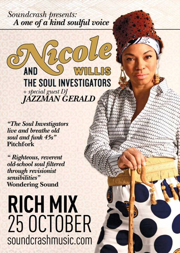 Nicole Willis & The Soul Investigators with Jazzman Gerald | Jazzman